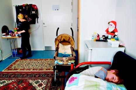 Familien Shala bor på asylcenter Kongelunden