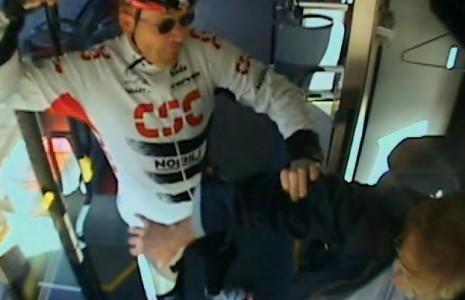 cykelrytter amok på buschauffør
